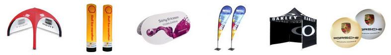 Werbedisplays, Faltzelte, Messedisplays, Werbedisplays, aufblasbare Zelte, Rollup Displays, Beachflags und aufblasbare Werbeträger sind nur ein Teil unseres großen Spektrums an hochwertigen mobilen Werbedisplays